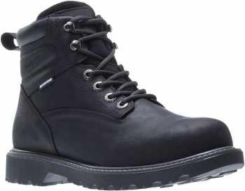 Wolverine WW10694 Floorhand, Men's, Black, Steel Toe, EH, WP, 6 Inch Boot