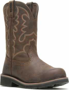 Wolverine WW10813 Rancher, Men's, Brown, Steel Toe, EH, Pull On Boot