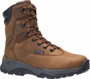 Wolverine WW191024 Glacier II, Men's, Brown, Comp Toe, EH, WP/Insulated, 8 Inch Boot