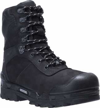 Wolverine W191044 Warrior, Men's, Black, CarbonMAX Toe, EH, PR, WP, 8 Inch