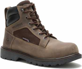 Wolverine WW201072 Roughneck, Men's, Fossil, Steel Toe, EH, WP, 6 Inch Boot