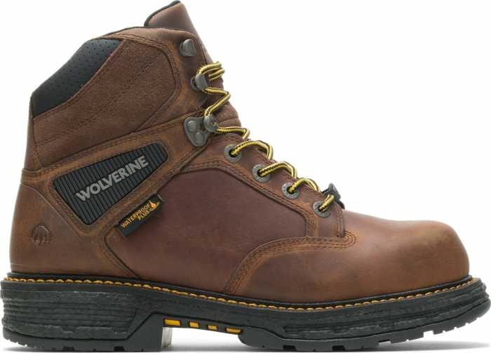 Wolverine WW201175 Hellcat UltraSpring, Men's, Brown, Comp Toe, EH, WP, 6 Inch Boot