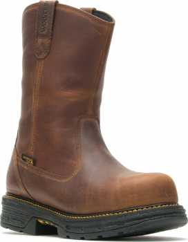 Wolverine WW201178 Hellcat UltraSpring, Men's, Brown, Comp Toe, EH, WP, Pull On Boot