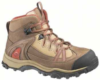 Wolverine WW2210 Women's Brown/Red Steel Toe, EH, Slip Resistant Hiker