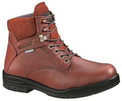 a48eebbf2 click to zoom · Wolverine DuraShocks SR WW3120 Brown Steel Toe, Electrical  Hazard Men's 6 Inch Work Boot
