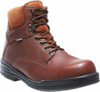 Wolverine WW3122 DuraShocks Brown, Soft Toe, Slip Resistant, Men's 6 Inch Work Boot