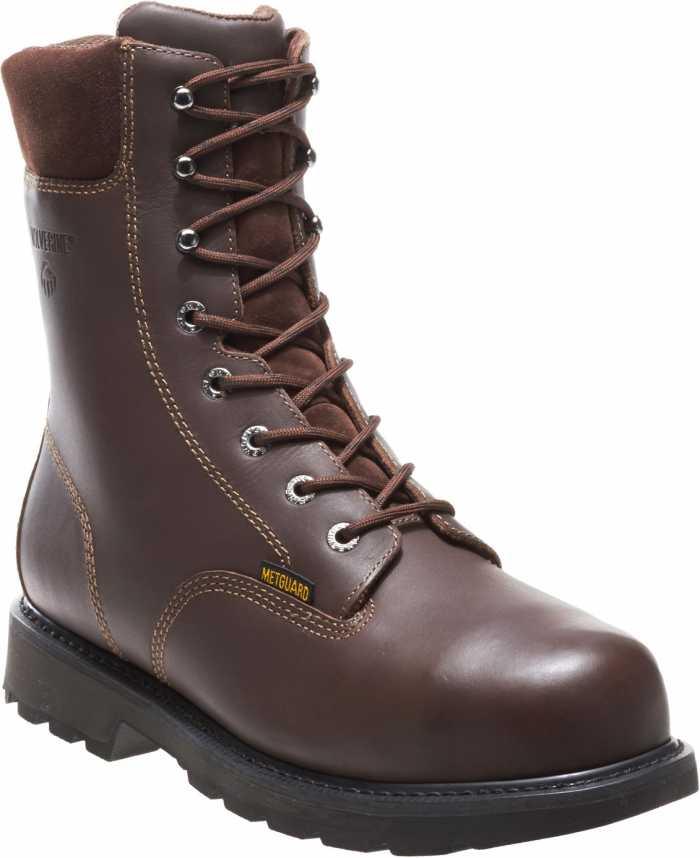 Wolverine WW4452 Cannonsburg Brown, Steel Toe, EH, Internal Met Guard, Men's 8 Inch Work Boot