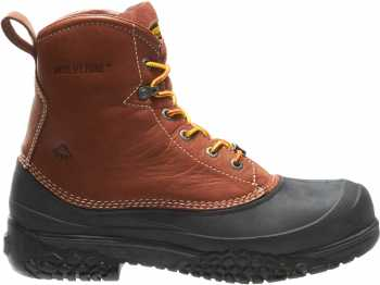 Wolverine WW5698 SwampMonster Brown, Steel Toe, EH, Waterproof Men's 6 Inch Work Boot