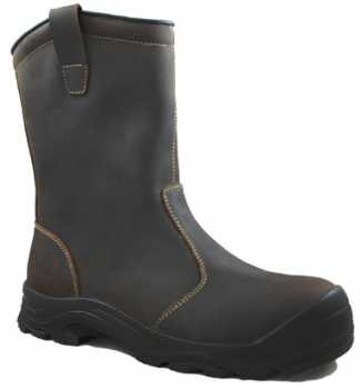 Work Zone WZC960-BR Men's, Brown, Comp Toe, EH, 9 Inch Pull On