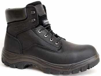 Work Zone WZS651-BL Men's, Black, Steel Toe, EH, Insulated, 6 Inch Boot