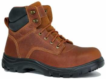 Work Zone WZS691-BR Men's, Brown, Steel Toe, EH, 6 Inch Boot