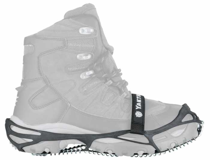 Yaktrax Pro Black Men's and Women's Rubber Steel Coil Men's 5 to 8 and a half and Women's Sizes 6 and a half to 10