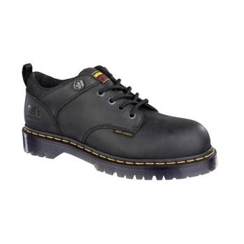 Dr. Martens 13736001 Men's Black Steel Toe, SD, Slip Resistant Casual Oxford