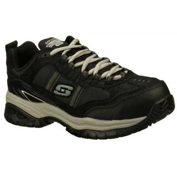 low priced dfaa5 ddeff Skechers Work SK77013BKGY Men s Relaxed Fit Soft Stride-Grinnell  Black Grey, Slip Resistant, Comp Toe, EH, Athletic