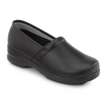 SR Max SRM3400 Chicago Men's Slip Resistant Black Leather Clog