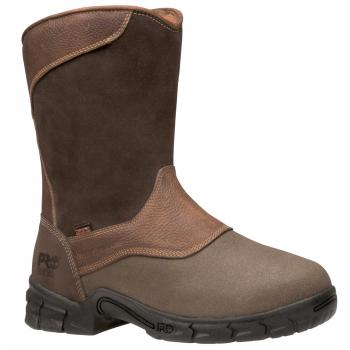 Timberland PRO TM89652 Brown, Men's, Excave Waterproof Membrane,Steel Toe, EH, Internal Met Guard Wellington