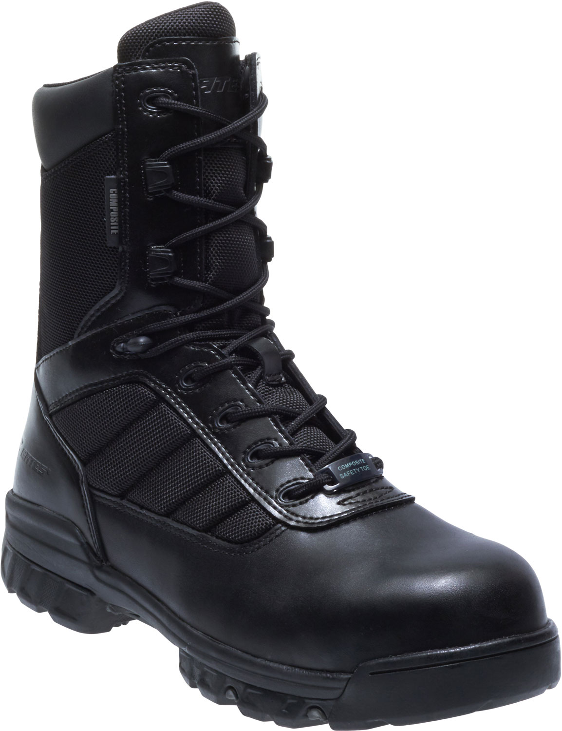 a31c88765f2 Bates Black 8 Inch Tactical Comp Toe Side Zip Boot