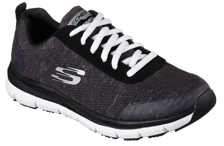 ec30b50a0267 Skechers Work SK77217BKW Black White Comfort Flex Pro HC Soft Toe ...